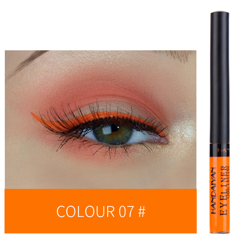 12 Color Eyeliner Liquid Waterproof Easy To Wear Make Up Matte Eye Liner Blue Red Green White Gold Brown Eyliner 9