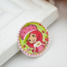 31mm Kawaii Girl  resin flatbacks For Diy phone case deco resin pieces Free shipping YR03