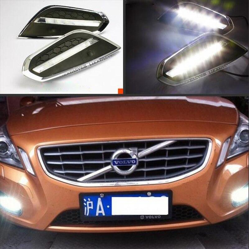 Hireno Super-bright LED Daytime Running Light for Volvo XC90 2009 2010 2011 2012 2013 Car LED DRL fog lamp 2PS<br><br>Aliexpress