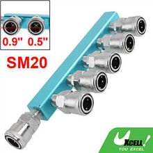 Pneumatic Air Hose One Touch Fitting 6 Way Multi Pass Quick Coupler