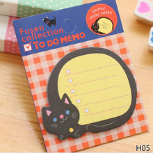 1/Piece!! Notepad Kawaii Stationery Papeleria School Supplies Cartoon Animals Pad Paper Sticky Notes Post It 2018 New(China)