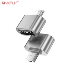 RAXFLY Micro USB OTG Adapter Xiaomi Samsung Huawei Male Converter Android Mobile Phone - OfficialFlagship Store store