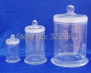 150x180mm glass specimen bottle with cover<br>