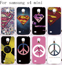 Custom Phone Covers For Samsung Galaxy S4 mini I9190 Cases Superman America Captain Medal Plastic Phone Protective