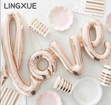 Large size 108x65cm giant Linking Champagne Red LOVE foil balloon Romantic Wedding Valentine's Day party supplies helium globos