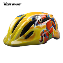 WEST BIKING Kids Bicycle Helmet Ultralight Safety Strap Led Rear Light Children's Bike Helmet Ciclismo Sports MTB Cycling Helmet