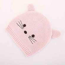 Baby Hats Ears Hammock Horn Ciking Steelers Cap Newborn Knit Crochet Braids Touca Inverno Newborn Crochet Outfits Bucket 60C242(China)