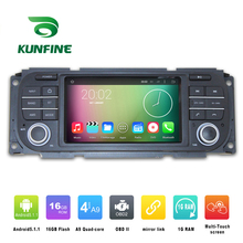 Quad Core 800*480 Android 5.1 Car DVD GPS Navigation Player Car Stereo for Jeep Wrangler 2003-06 Deckless Radio Wifi Bluetooth