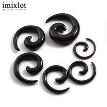 12Pcs/set Acrylic Spiral Ear Stretching Tapers Body Jewelry Mix Lots Acrylic Ear Tapers Fake Ear Expander Plug Tunnel Kit(China)