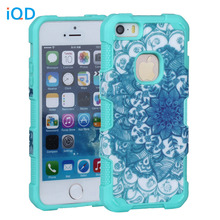 IQD For iPhone SE Case,2in1 Hybrid Cover for Iphone 5 5s Cases Cover Printed Design Hybrid High Impact Defender Hard Soft Covers(China)