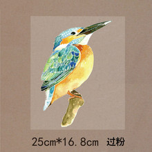 New 10PCS/1Lot Heat Transfer Personality Fashion Bird Woodpecker Iron On Patches  DIY  Clothes T-shirt Brand  Logo Patch Applied