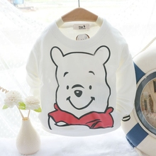 Baby Toddler Kids Cotton Lovely Bear Print  Tshirts For 73-95cm Height Children Clothes Bottoming Shirts G060