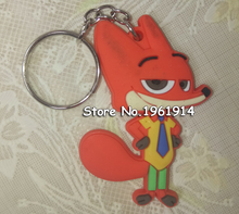 Free ship 1pc cartoon Lovely Keychain / creative crazy animal city couple models keychain / Binding Combs & Spines(China)