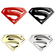3D 3M chrome emblem Auto logo Motorcycle accessories Funny car stickers Superman badge metal Universal Car styling(China)