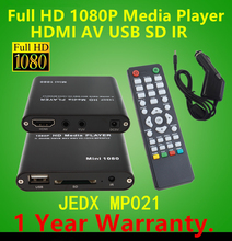 Full HD Multi Media Player 1080P TV Video HDMI YPbPr USB AV SDHC MKV AVI RM RMVB WITH Car adapter GIFT free shipping!(Hong Kong)
