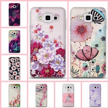 For Samsung Galaxy A7 A3 2016 A5 Case Silicon Back Cover for Samsung Galaxy A3 2015 A5 A7 Phone Case 3D Flower Funda Coque