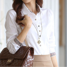 B1234 new during the spring and autumn 2017 han edition big size of professional women long sleeve shirt cheap wholesale