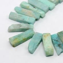 "Natural Amazonite Rectangle Beads Strands, 10~55x4~15x3~10mm, Hole: 1mm; about 16""(China)"