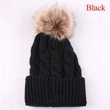 Hot Women Girls Winter Warm Women Hat Knitting Wool Cap Crochet Knitted Hats Pompom Ball Hat 2017