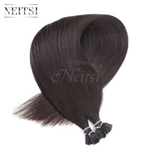 "Neitsi I Tip Stick Capsules Keratin Human Hair Extensions 100%Remy Human Hair 5A Grade Straight  20"" 1g/s 25 Strands 1B# 27# 60#"