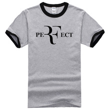 2017 new fashion summer Men Fashion roger federer t shirts  Perfect Letters printing t-shirt Short Sleeve 100% Cotton T Shirts
