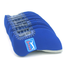 Free Shipping Golf Club Iron Head Covers Protect Headcover x10pcs,Neoprene protection Case set,PGA blue golf Iron headcovers