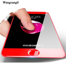 wangcangli 9H 4D Screen Protector For iPhone 7 glass Red full coverage tempered glass For iPhone 6 6s screen protection glass(China)
