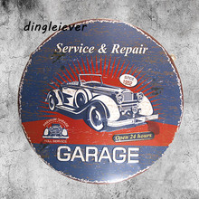 classic car service&repair vintage signs metal man cave signs and garage decor(China)