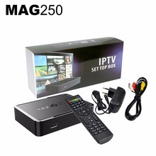 New Linux IPTV box MAG250 Media Player Support WiFi Linux 2.6.23 System Processor STi7105 RAM 256 Mb Top Quality MAG 250 tv box