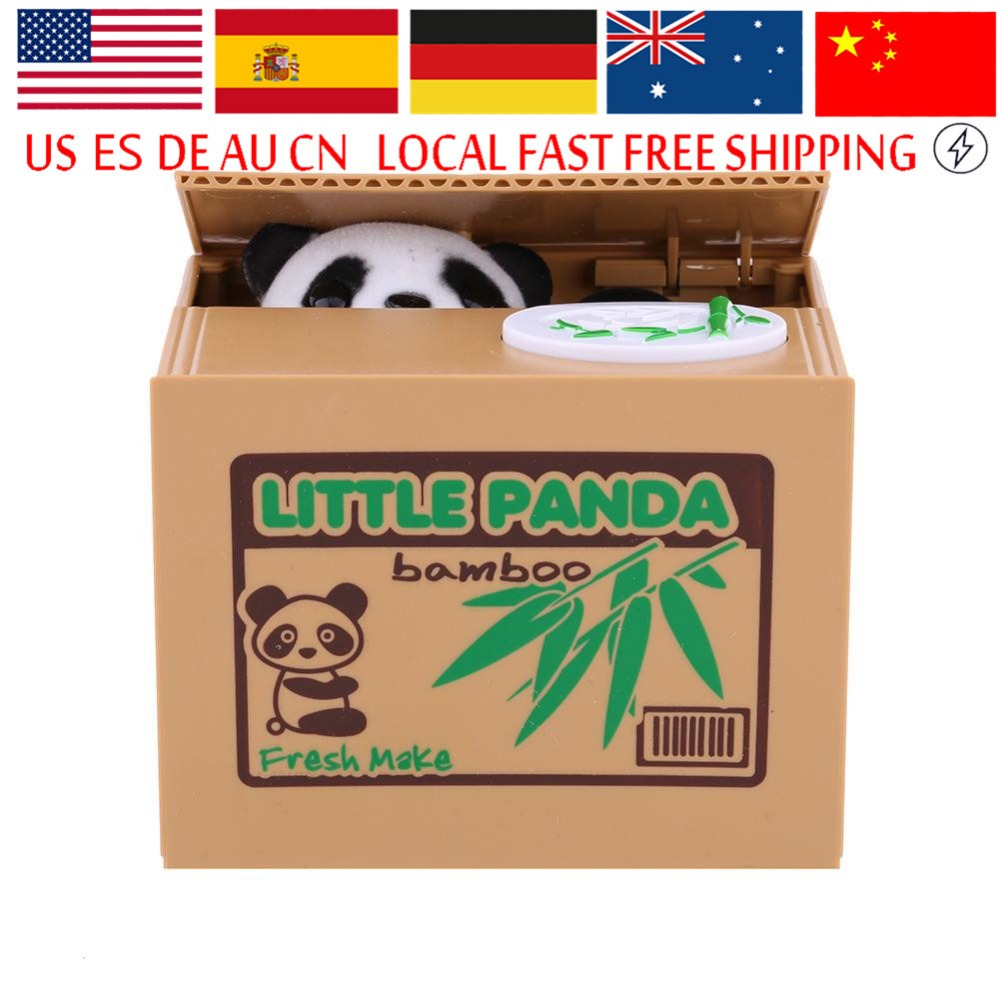 Money-Box Coin-Bank Panda Cat Stealing-Coins Automatic Cute Lovely Cents title=