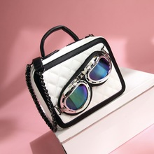 2016 New Designer Cute Women Handbags With A Nice Glass Set High Quality Women's Messenger Bags Small Bags For Young Girls(China)