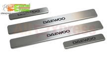 Door sill for Daewoo Matiz 1996-2016 4 pcs/set sill plates Stainless Stell Car Styling Molding Tuning Protection Accessories