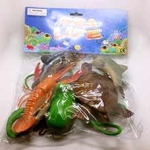 8pc/Set different models 4.5-18cm Plastic Marine Animal Figures Ocean Creatures Sea Life all kinds of toys mix