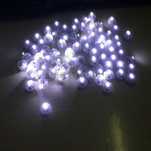 Free shipping 50pcs/lot 1.4CM white BALLOON LAMP LED BALL LIGHT for Paper Lantern Balloon Wedding Party Floral Decoration
