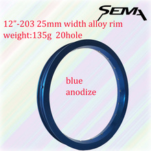 Sema Alloy anodize Color Rim 12inch 203 balance bicycle cheap rims 25mm width 20 hole red black blue gold silver for choose(China)