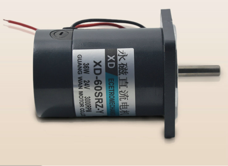 DC12V/ 24V 4000RPM JS-60SRZ-Y 36w miniature permanent magnet motor and reversing adjustable speed electric tools DIY accessories<br>