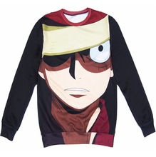 3d sweatshirt jumper Japanese anime One Piece character Monkey D. Luffy hoodies harajuku pullovers outerwear plus size