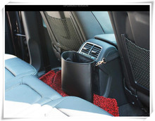 Car-styling Car leather garbage bag trash can for SEAT LOEN bmw e46 audi a4 b5 nissan qashqai mini cooper hyundai tucson Toyota(China)
