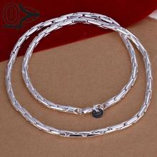 Christmas Gift Silver Plated Necklace & Pendant,Fashion Jewelry Accessories,Discount Mens Silver Chain Necklaces(China)