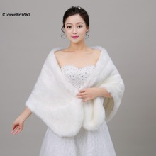 2017 Sleeveless Real Photos Wedding Accessories High Quality Faux Fur Bolero White Wedding Jackets Winter Warm