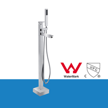 WELS AND CUPC Solid Brass Floor Standing Tub Shower Faucet Bathroom Shower Systerm Set Bathtub Faucet Chro(China)