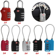 TSA Resettable 3 Digit Combination Lock Travel Luggage Suitcase Code Padlock Metal(China)