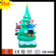 3m 10ft stand inflatable christmas tree with santa claus and Penguinpe lighting halloween decoration outdoor 420D Oxford