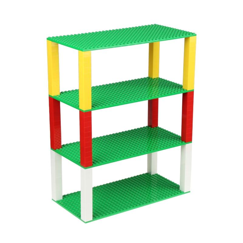 New Premium Stackable 10 x 5 Base Plates 25*12.7cm 32*16 Dots Baseplate Building Bricks Floor Tower Construction Blue/Green<br><br>Aliexpress