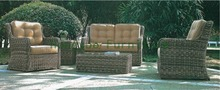 Outdoor garden rattan sofa with cushions.outdoor furniture