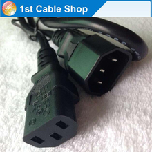 10PCS/lot Power Extension Cable IEC Male to Female cord  Lead C14 to C13 computer monitor
