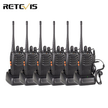 6pcs Walkie Talkie Retevis H777 3W UHF 400-470MHz Frequency Portable Ham Radio Hf Transceiver Radio Communicator Handy A9105(China)