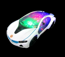 New Fashion Electric Musical Flashing The Sports Car Model Toy for kids birthday gift