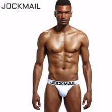 Buy JOCKMAIL Brand 5PCS Men Jockstrap Cotton Sexy Backless tanga hombre G-string Thongs Men's Jock Straps cueca Gay underwear penis