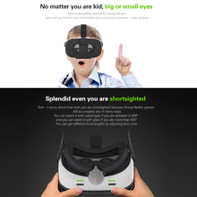 "US Stock 2016 Head-Mounted VR Box Headset Virtual Reality Glasses 3D VR Glasses 3D Movie Game Universal for 4.0""-6.5"" Smartphone(China)"